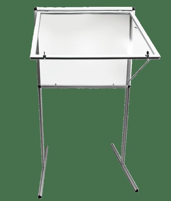 Gablota ogłoszeniowa 3WWJJG1G5 aluminiowa wolnostojąca jednoskrzydłowa