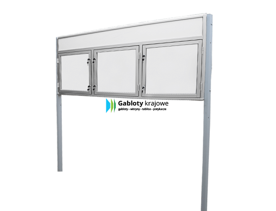 Gablota ogłoszeniowa 7WDTB13FG4 aluminiowa jednostronna uchylna