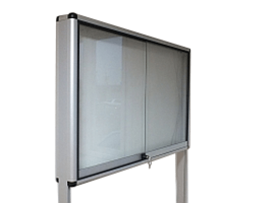 Ogłoszeniowa gablota 9WWDPG2 aluminiowa przesuwna na boki