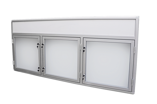 Gablota otwierana na boki 01-2TSP6F-YQ wewnętrzna aluminiowa jednostronna
