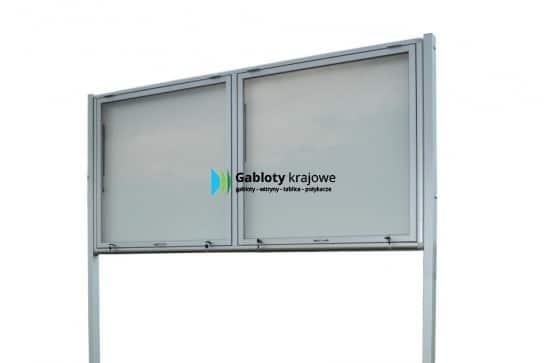 Gablota reklamowa 10WDGPT6G1 zewnętrzna dwuskrzydłowa