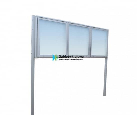 Gablota reklamowa 1WDTGT13G2 aluminiowa stojąca trzyskrzydłowa