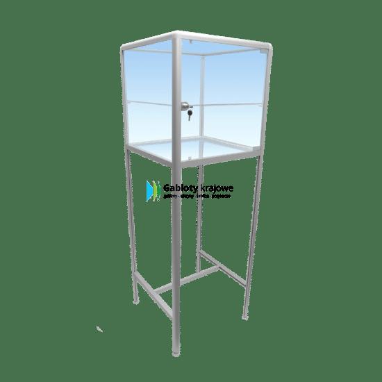 Gablota sklepowa - szklana 1M14G1 aluminiowa jednostronna uchylna