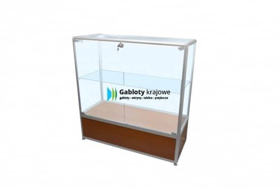 Szklana gablota sklepowa 2M15G2 drewniana 2-skrzydłowa uchylna