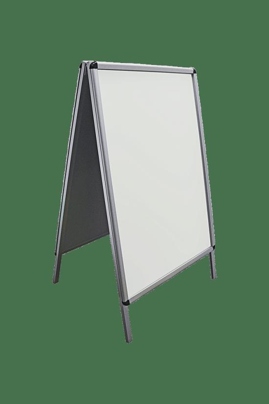 Stojąca gablota 49-P10-YY wewnętrzna aluminiowa dwustronna