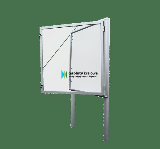 Stojąca gablota 4WJB3G3 zewnętrzna aluminiowa uchylana