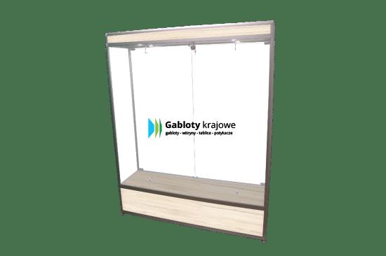 Gablota szklana 01-2SDAB4-YQ wewnętrzna dwuskrzydłowa uchylana