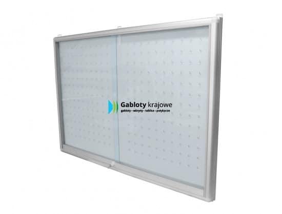 Szklana gablota 01-KA6-VX aluminiowa jednostronna przesuwna
