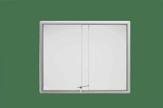 Szklana gablota 01-P6-XX aluminiowa na boki