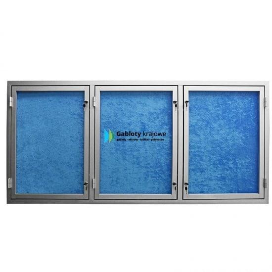 Gablota szklana 01-TS3,2-QZ zewnętrzna jednostronna na boki