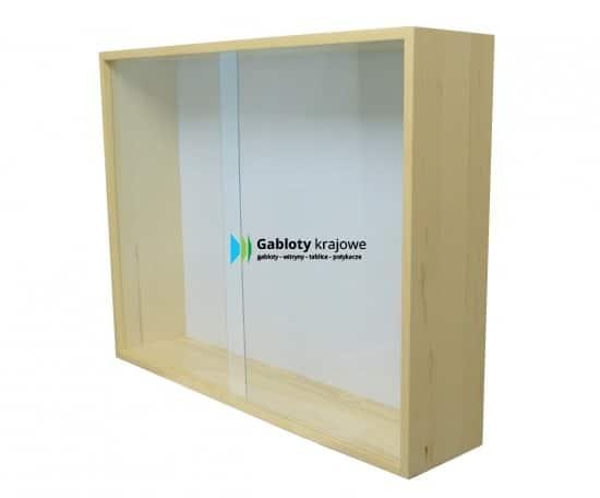 Gablota ze szkła 02-GPDP1-VV wewnętrzna drewniana