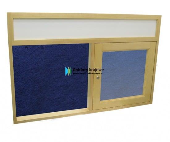 Gablota szklana 02-JCD7F-QZ drewniana wisząca jednostronna