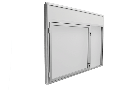 Gablota szklana 02-JCP6F-QV wewnętrzna aluminiowa wisząca