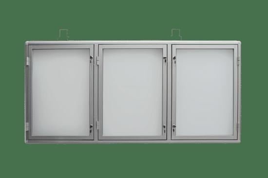 Gablota szklana 02-TS3-VZ aluminiowa wisząca na boki