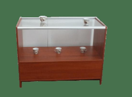 Gablota szklana 02-WS14-XZ wewnętrzna aluminiowa