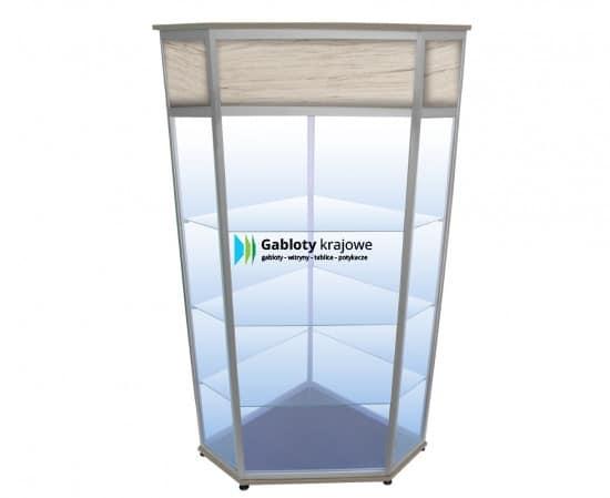 Szklana gablota 02-WS30-ZZ stojąca uchylana