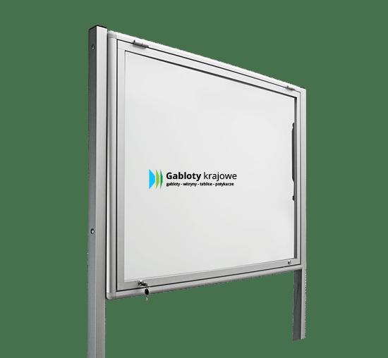Gablota szklana 03-WJGPT6-VX aluminiowa jednoskrzydłowa uchylna