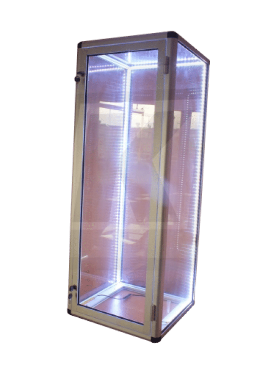 Gablota szklana 03-WW8-VY jednostronna jednoskrzydłowa uchylna