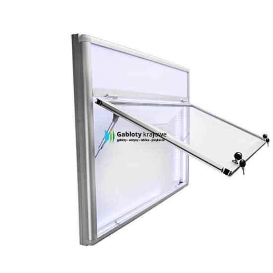 Gablota szklana 04-JGPT6F-YX aluminiowa uchylna do góry