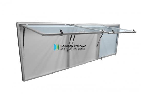 Szklana gablota 06-TSPT6-ZQ aluminiowa 3-skrzydłowa do góry
