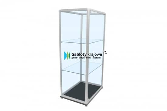 Gablota szklana 08-WS35-XQ aluminiowa wolnostojąca