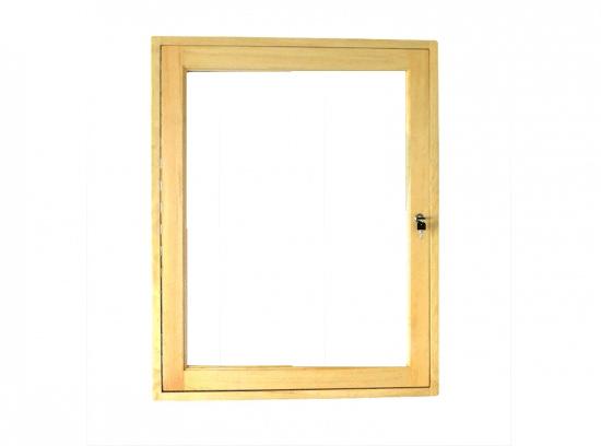 Gablota szklana 10JBD7G3 drewniana wisząca jednostronna