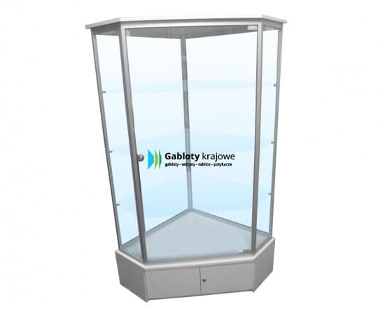 Szklana gablota 10WS25G8 aluminiowa wolnostojąca 1-skrzydłowa