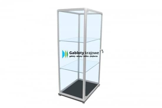 Szklana gablota 10WS35G9 aluminiowa wolnostojąca