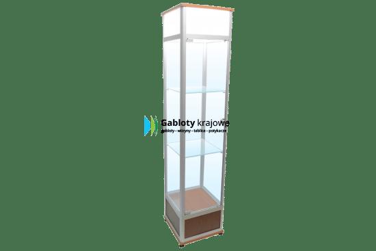 Gablota ze szkła 12-WS23-XZ drewniana jednostronna na boki