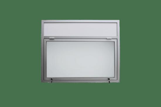 Szklana gablota 14-JG3,2F-QZ aluminiowa jednostronna uchylana