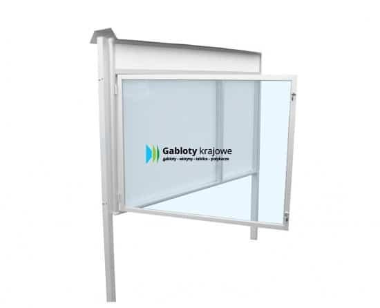 Gablota szklana 14-WDJC13-F-ZZ zewnętrzna aluminiowa uchylna