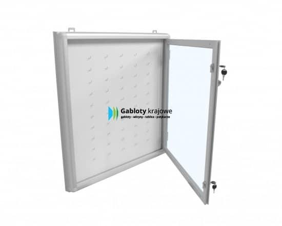 Szklana gablota 1KA1G8 wewnętrzna aluminiowa 1-skrzydłowa