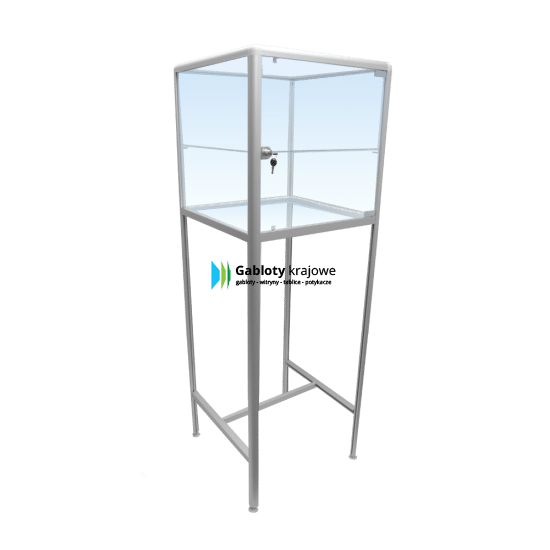 Szklana gablota 1M14G1 wolnostojąca 1-skrzydłowa uchylna