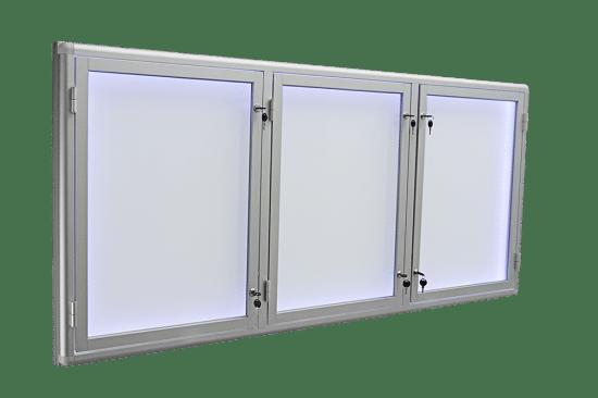 Gablota szklana 1TSP6G9 aluminiowa trzyskrzydłowa