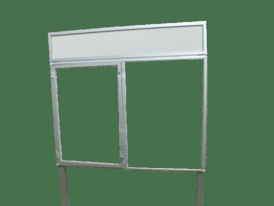 Gablota szklana 1WJC3FG8 aluminiowa wolnostojąca na boki