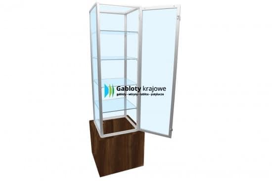 Szklana gablota 1WS26G9 wewnętrzna aluminiowa uchylna