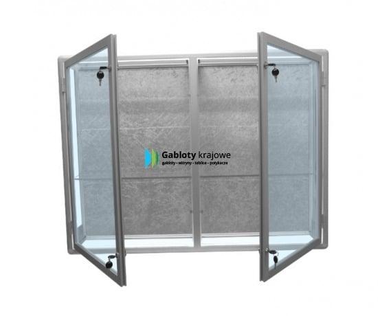 Gablota szklana 1WW5G6 aluminiowa na boki