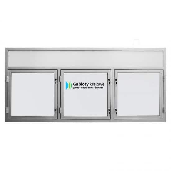 Gablota szklana 21-TS3,2F-VZ aluminiowa wisząca na boki