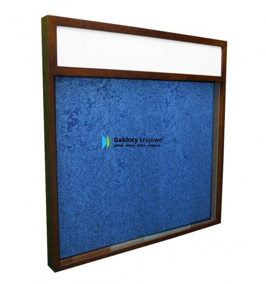 Szklana gablota 2PD7FG2 drewniana wisząca jednostronna