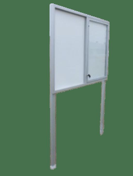 Szklana gablota 2WJC3,2G9 aluminiowa wolnostojąca jednostronna