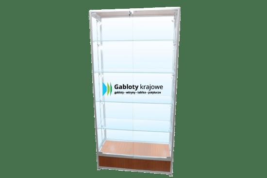 Szklana gablota 2WS17G9 wewnętrzna drewniana dwuskrzydłowa