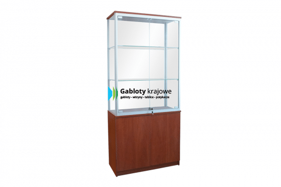 Gablota ze szkła 2WS7G8 wewnętrzna aluminiowa wolnostojąca