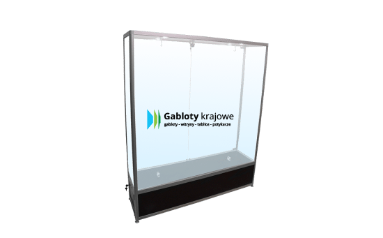 Szklana gablota 32-2SDAB2-VV stojąca 2-skrzydłowa na boki