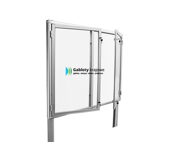 Gablota ze szkła 32-WDS3-YQ aluminiowa jednostronna