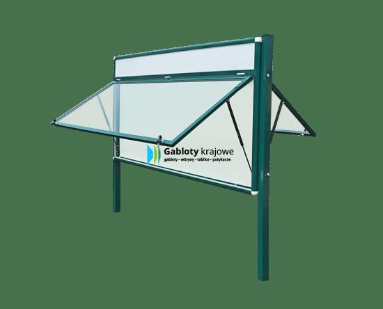 Gablota szklana 35-WDJGT13F-ZQ zewnętrzna jednoskrzydłowa do góry