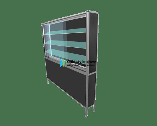 Szklana gablota 37-M16G-QZ stojąca przesuwna przesuwna