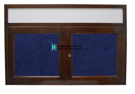 Gablota szklana 3DSD7FG8 drewniana wisząca jednostronna