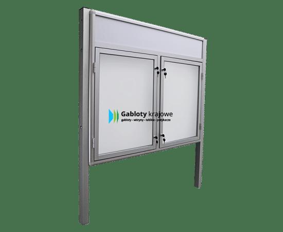 Gablota szklana 3WDDB13FG9 zewnętrzna aluminiowa dwuskrzydłowa