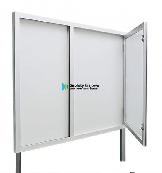 Gablota szklana 3WJC3,2FG1 aluminiowa stojąca uchylana
