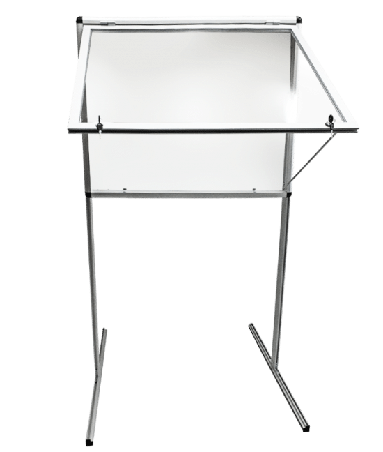 Gablota szklana 3WWJJG1G5 aluminiowa jednostronna